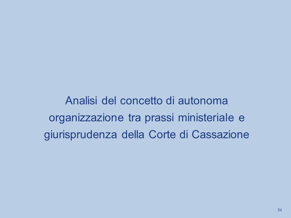 Analisi del concetto di autonoma organizzazione tra prassi ministeriale e giurisprudenza della Corte di Cassazione