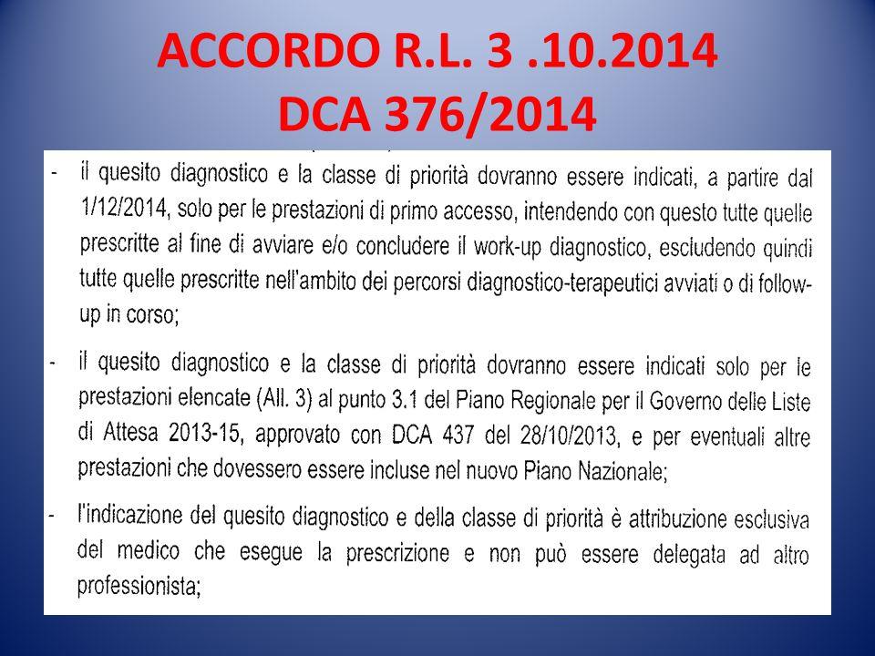ACCORDO R.L. 3 .10.2014 DCA 376/2014