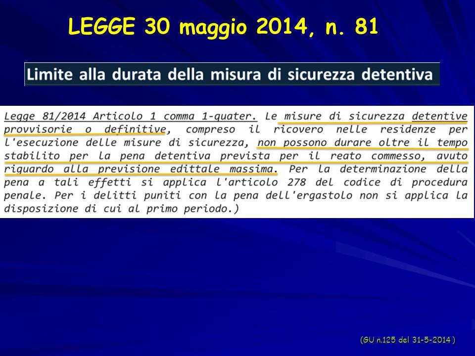 LEGGE 30 maggio 2014, n. 81 (GU n.125 del 31-5-2014 )
