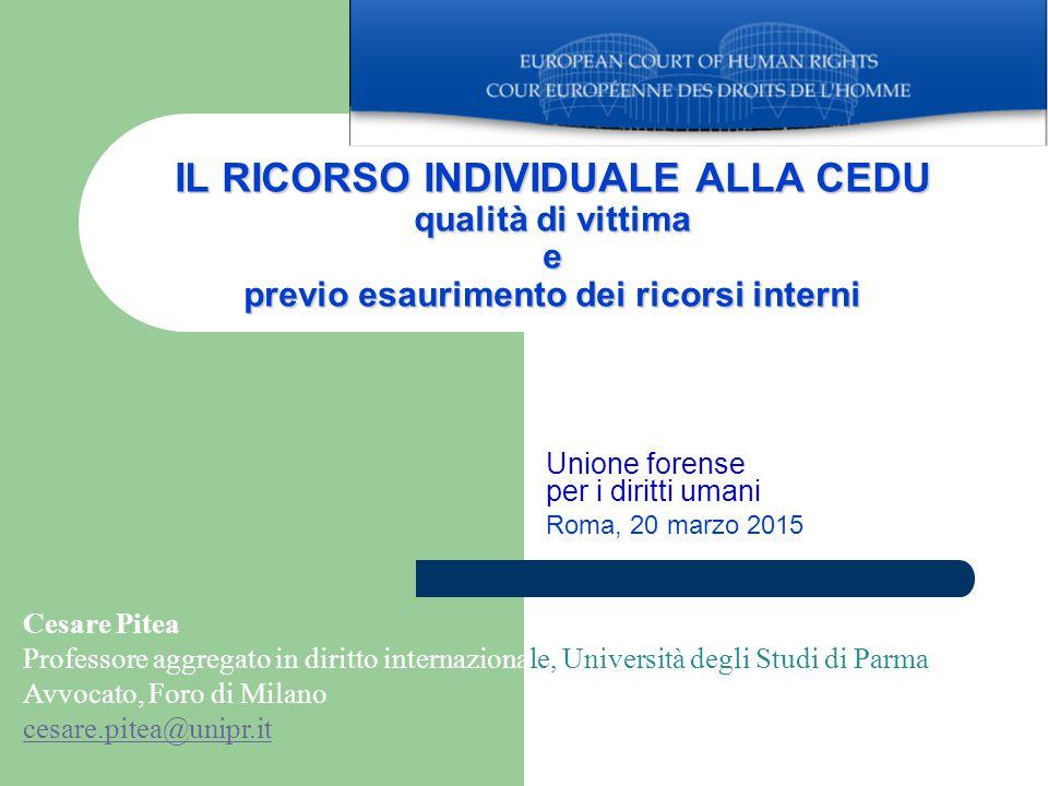 Unione forense per i diritti umani Roma, 20 marzo 2015
