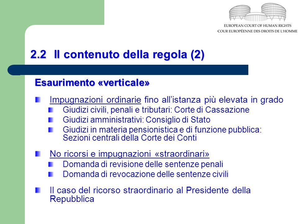 2.2 Il contenuto della regola (2)