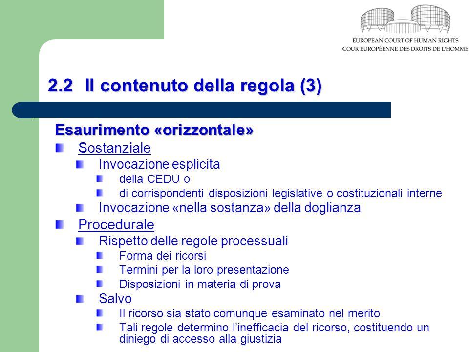 2.2 Il contenuto della regola (3)