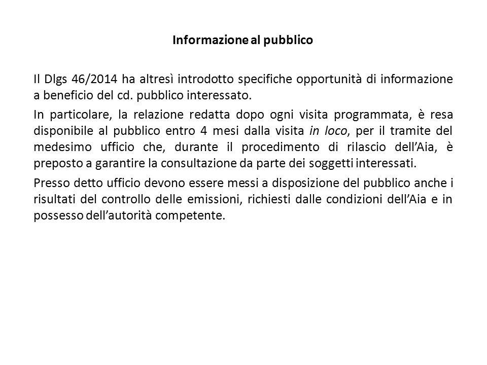 Informazione al pubblico