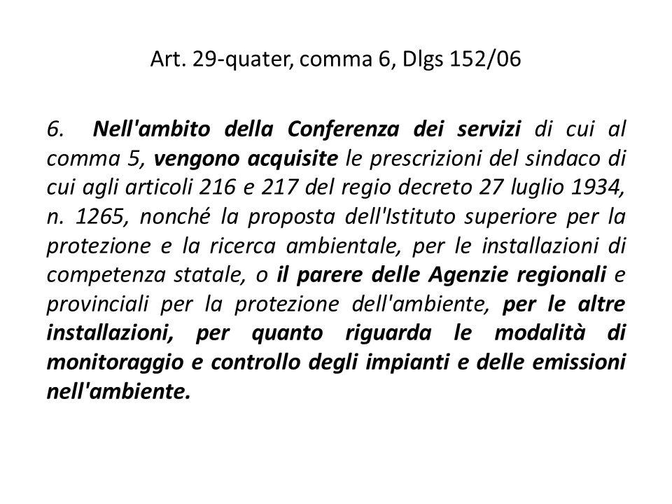 Art. 29-quater, comma 6, Dlgs 152/06
