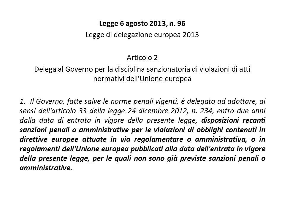 Legge di delegazione europea 2013