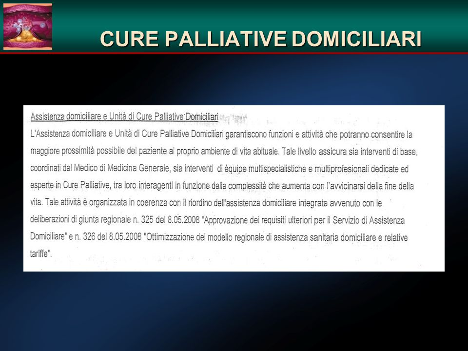 CURE PALLIATIVE DOMICILIARI