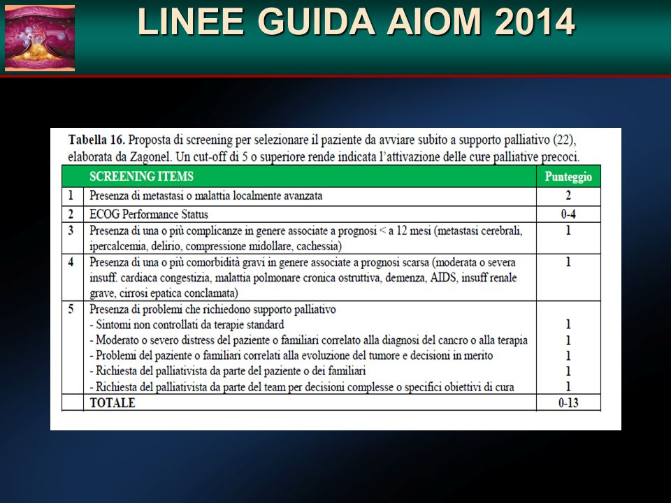 LINEE GUIDA AIOM 2014