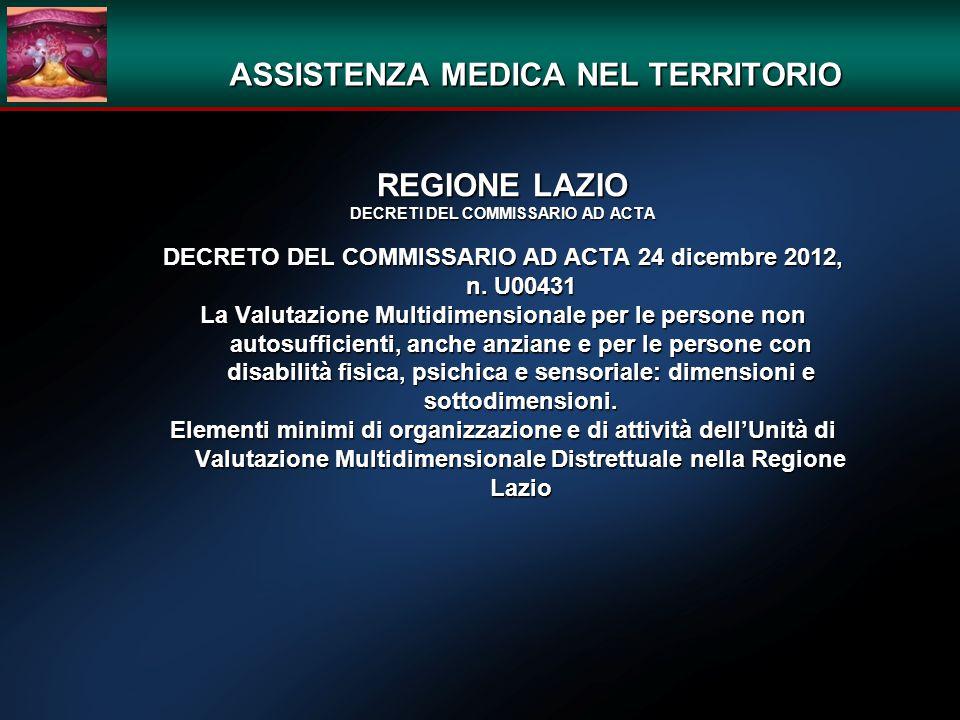 ASSISTENZA MEDICA NEL TERRITORIO