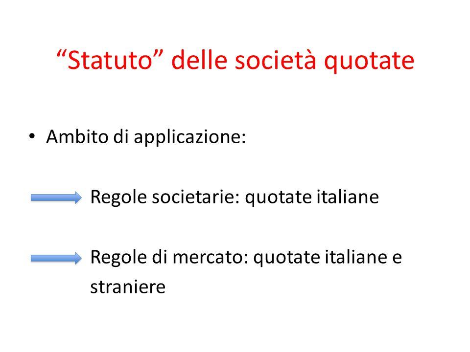 Statuto delle società quotate