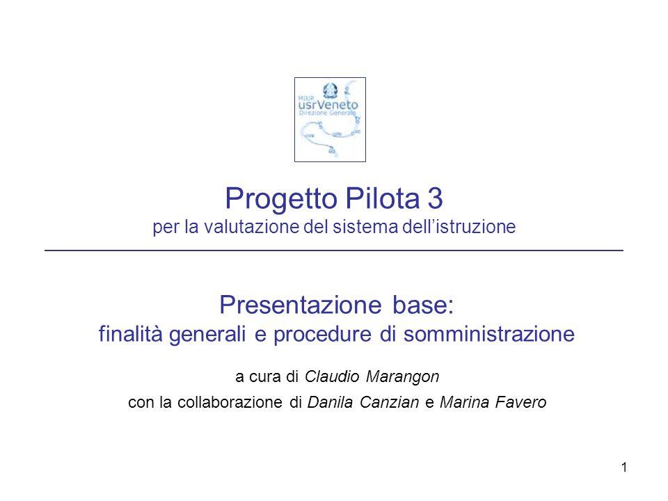 Progetto Pilota 3 per la valutazione del sistema dell'istruzione