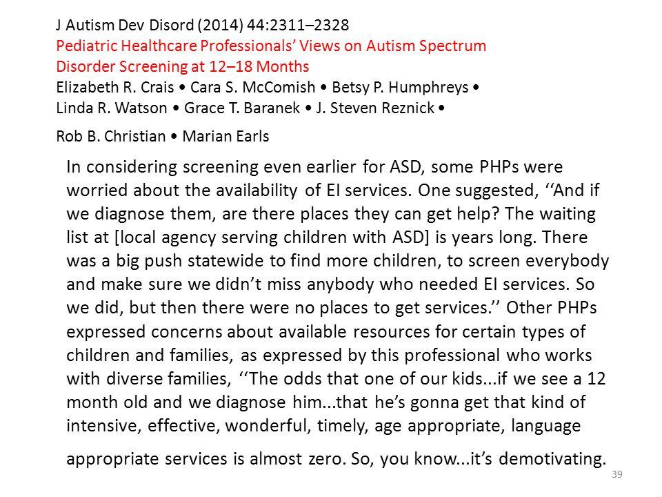 J Autism Dev Disord (2014) 44:2311–2328