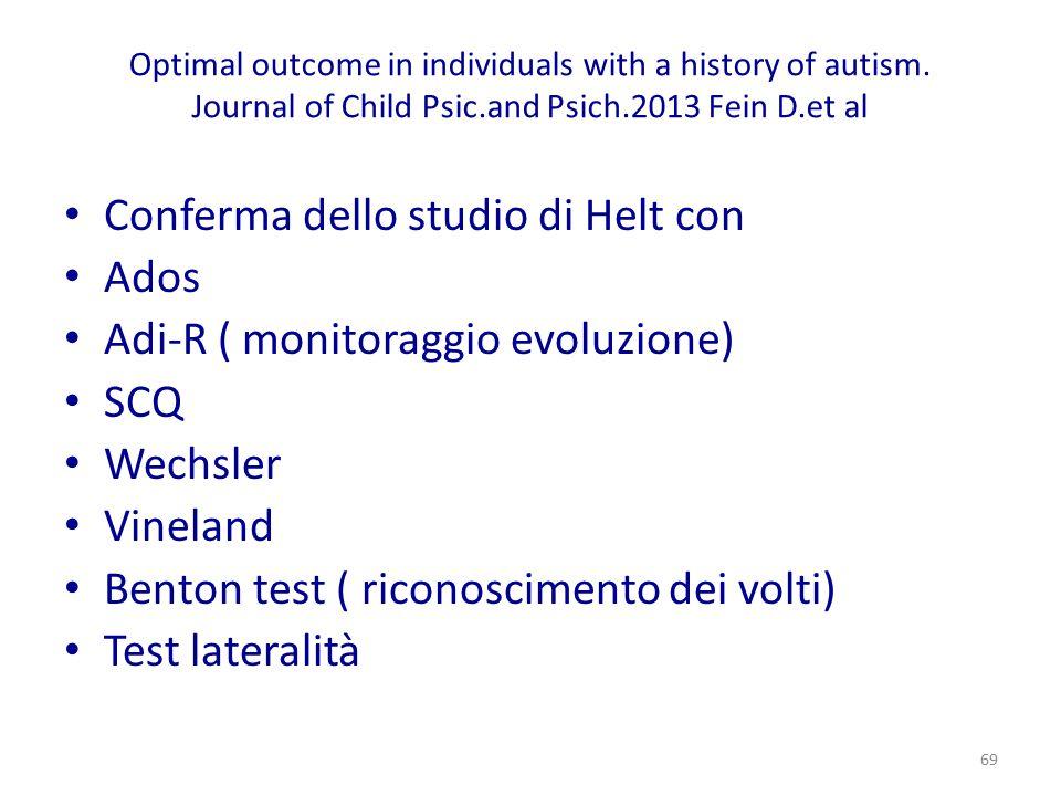 Conferma dello studio di Helt con Ados