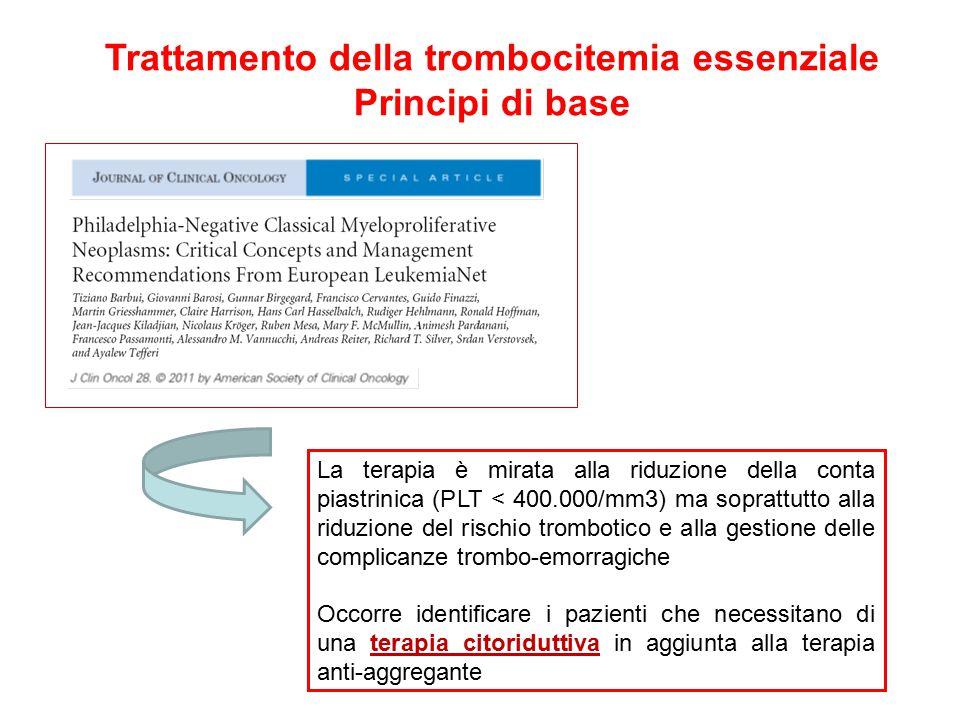 Trattamento della trombocitemia essenziale