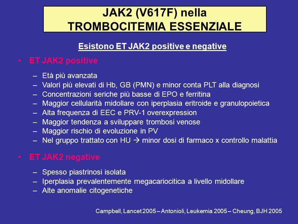 JAK2 (V617F) nella TROMBOCITEMIA ESSENZIALE
