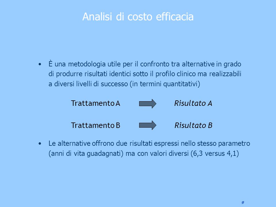 Analisi di costo efficacia
