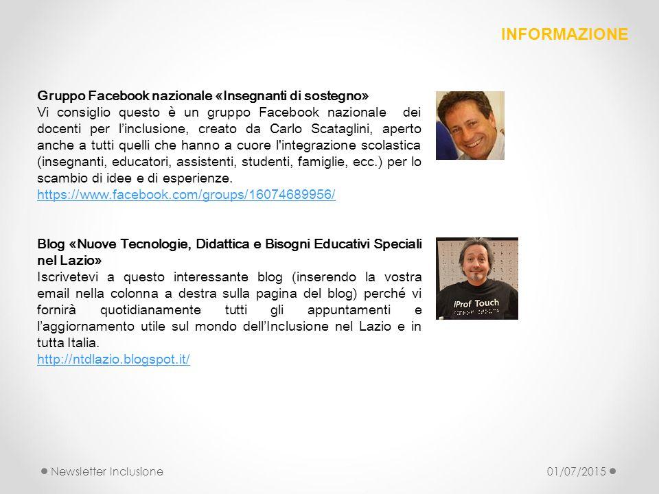 INFORMAZIONE Gruppo Facebook nazionale «Insegnanti di sostegno»