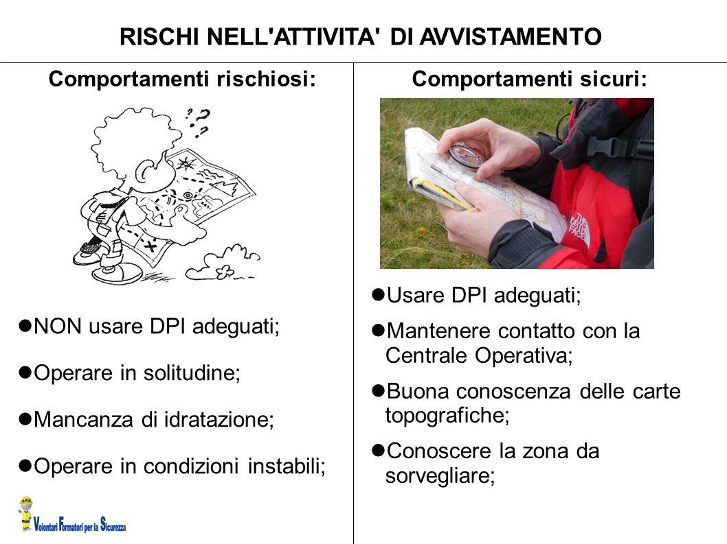 RISCHI NELL ATTIVITA DI AVVISTAMENTO