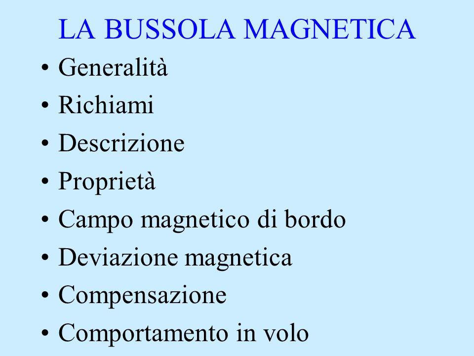LA BUSSOLA MAGNETICA Generalità Richiami Descrizione Proprietà