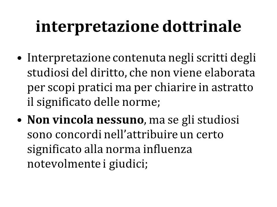 interpretazione dottrinale