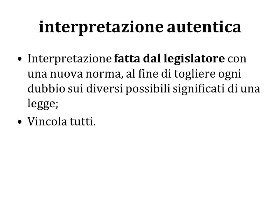 interpretazione autentica