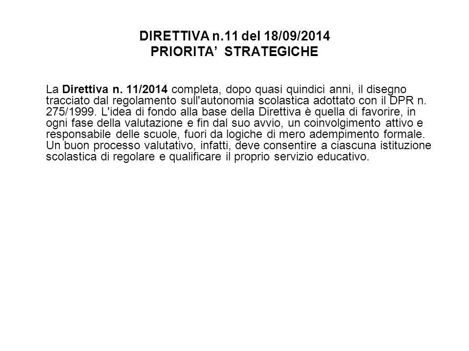 DIRETTIVA n.11 del 18/09/2014 PRIORITA' STRATEGICHE