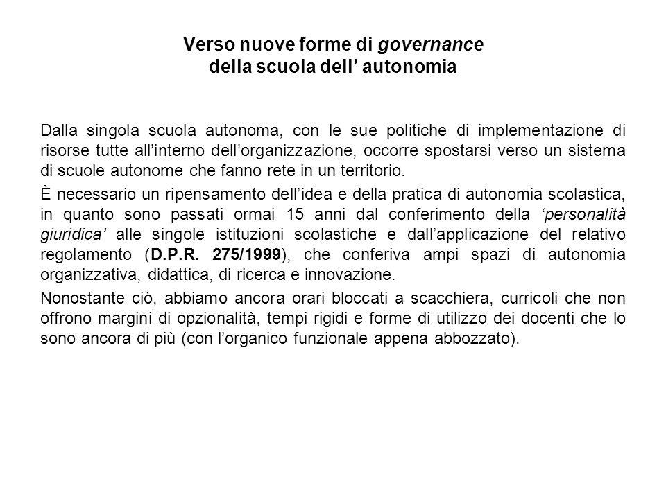 Verso nuove forme di governance della scuola dell' autonomia