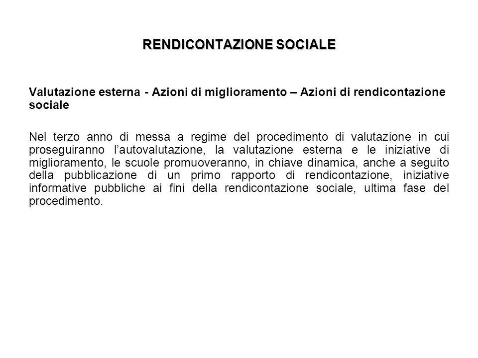 RENDICONTAZIONE SOCIALE