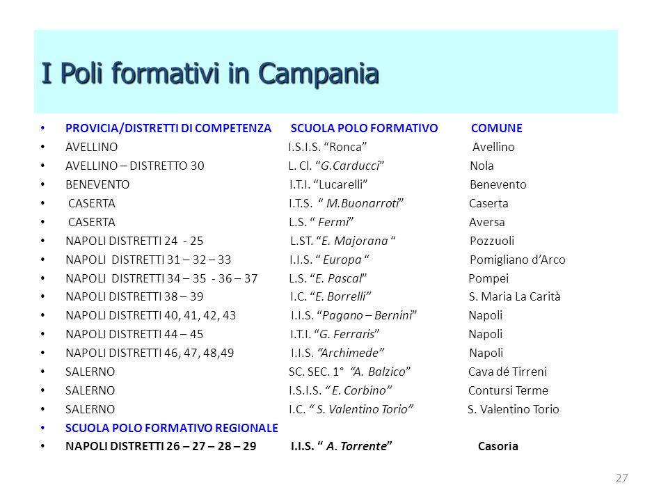 I Poli formativi in Campania