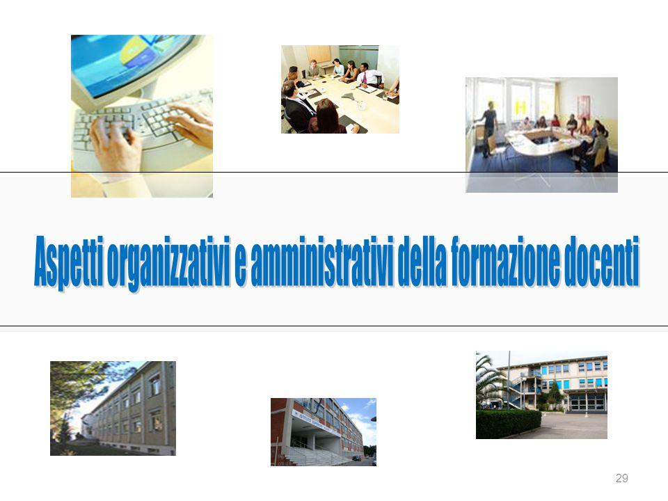 Aspetti organizzativi e amministrativi della formazione docenti