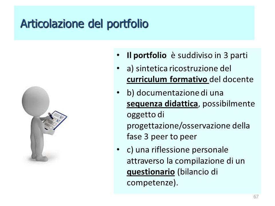 Articolazione del portfolio
