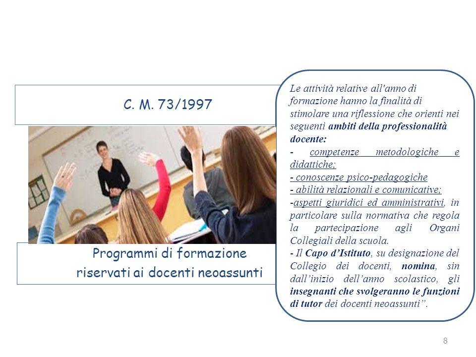 Programmi di formazione riservati ai docenti neoassunti