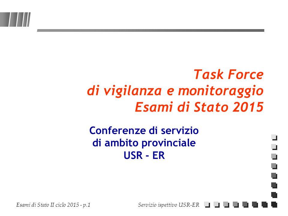 Task Force di vigilanza e monitoraggio Esami di Stato 2015