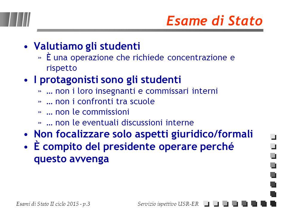 Esame di Stato Valutiamo gli studenti I protagonisti sono gli studenti