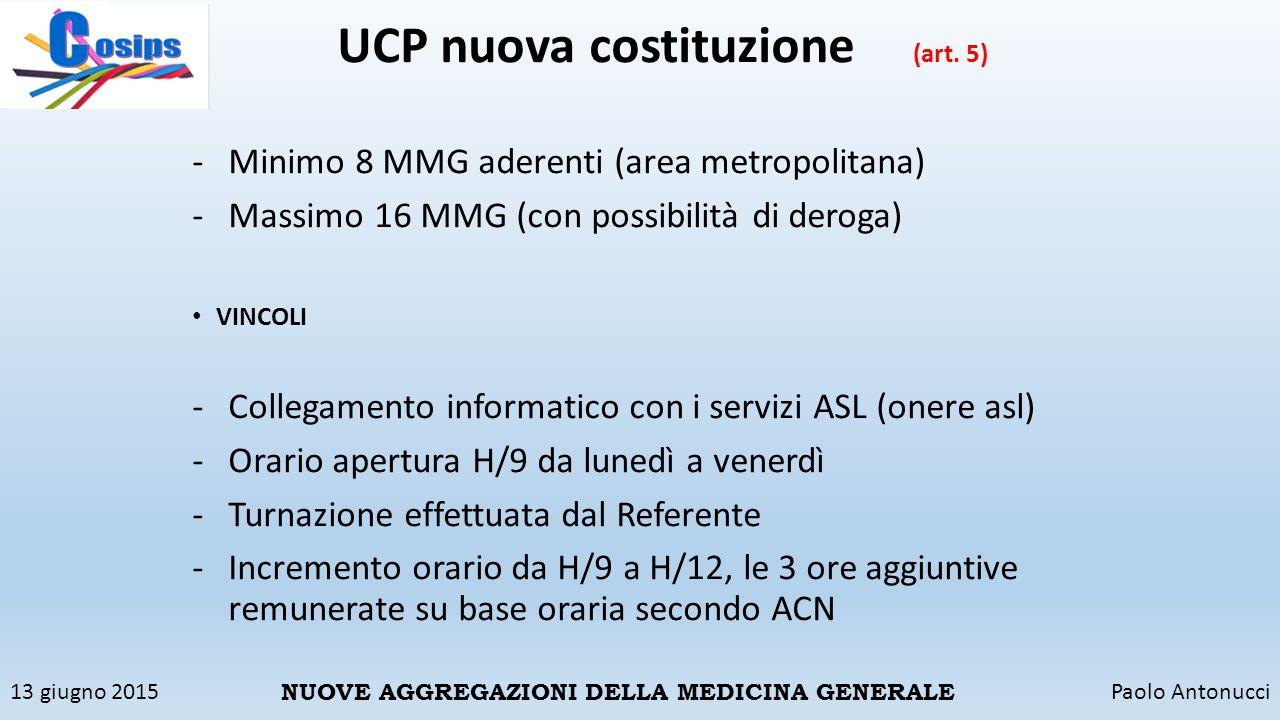 UCP nuova costituzione (art. 5)