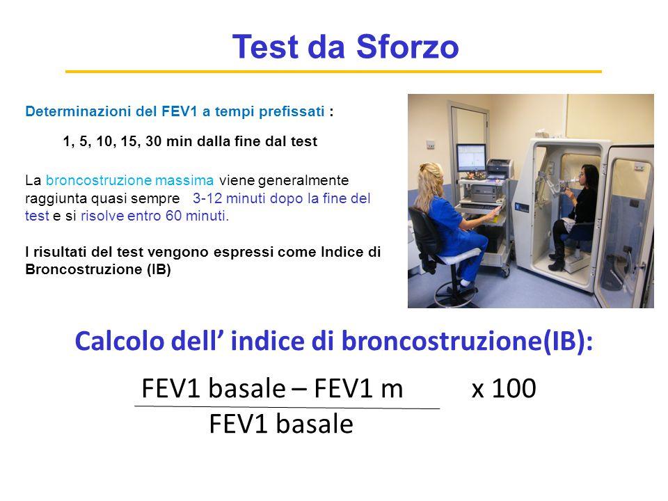 Calcolo dell' indice di broncostruzione(IB):