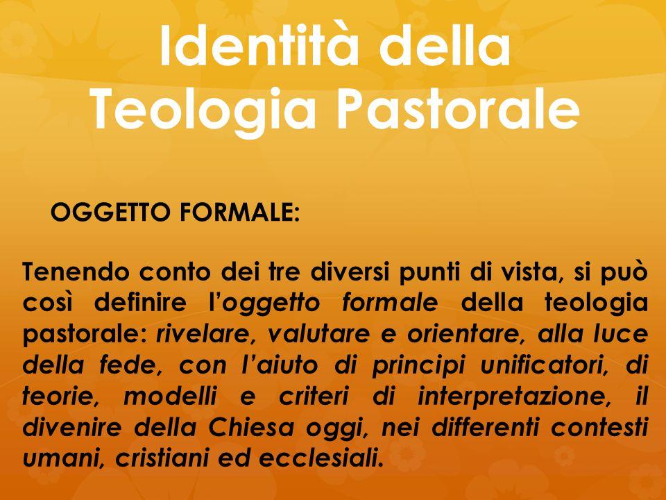 Identità della Teologia Pastorale