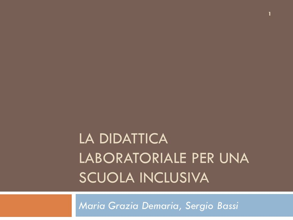 La didattica laboratoriale per una scuola inclusiva