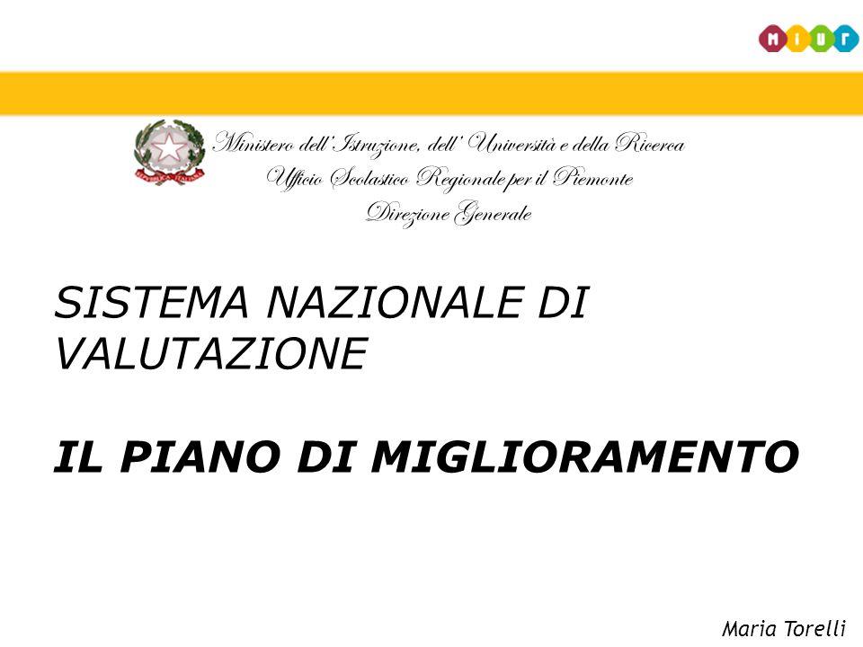 SISTEMA NAZIONALE DI VALUTAZIONE IL PIANO DI MIGLIORAMENTO