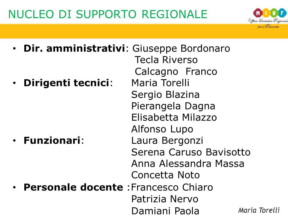 NUCLEO DI SUPPORTO REGIONALE