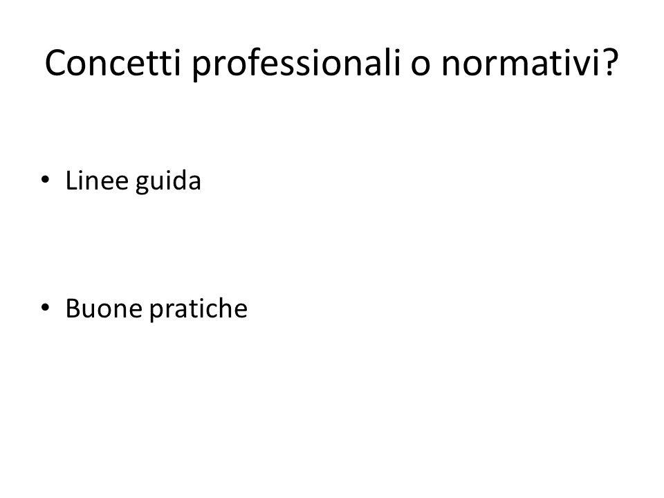 Concetti professionali o normativi
