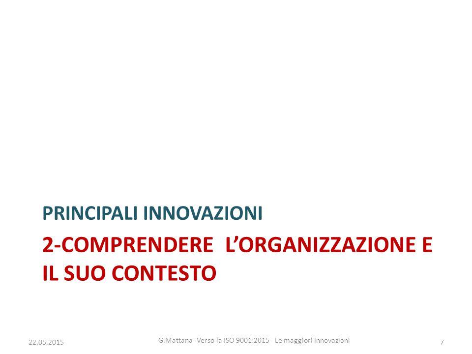 2-comprendere l'organizzazione e il suo contesto