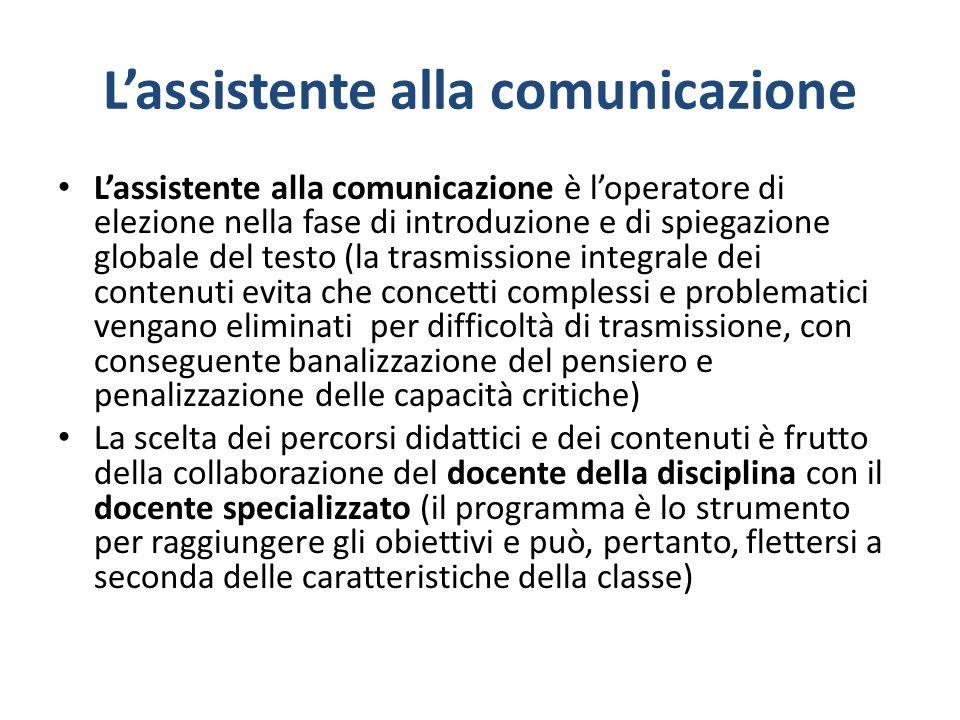 L'assistente alla comunicazione