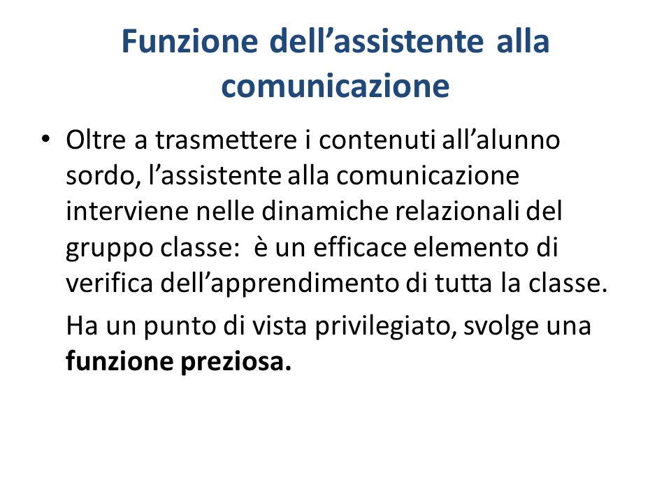 Funzione dell'assistente alla comunicazione