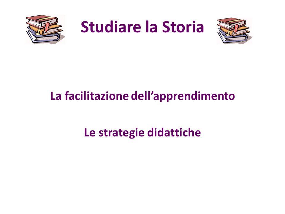 La facilitazione dell'apprendimento Le strategie didattiche