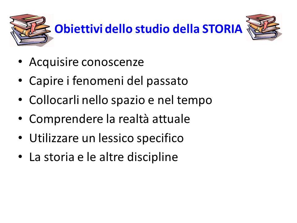 Obiettivi dello studio della STORIA