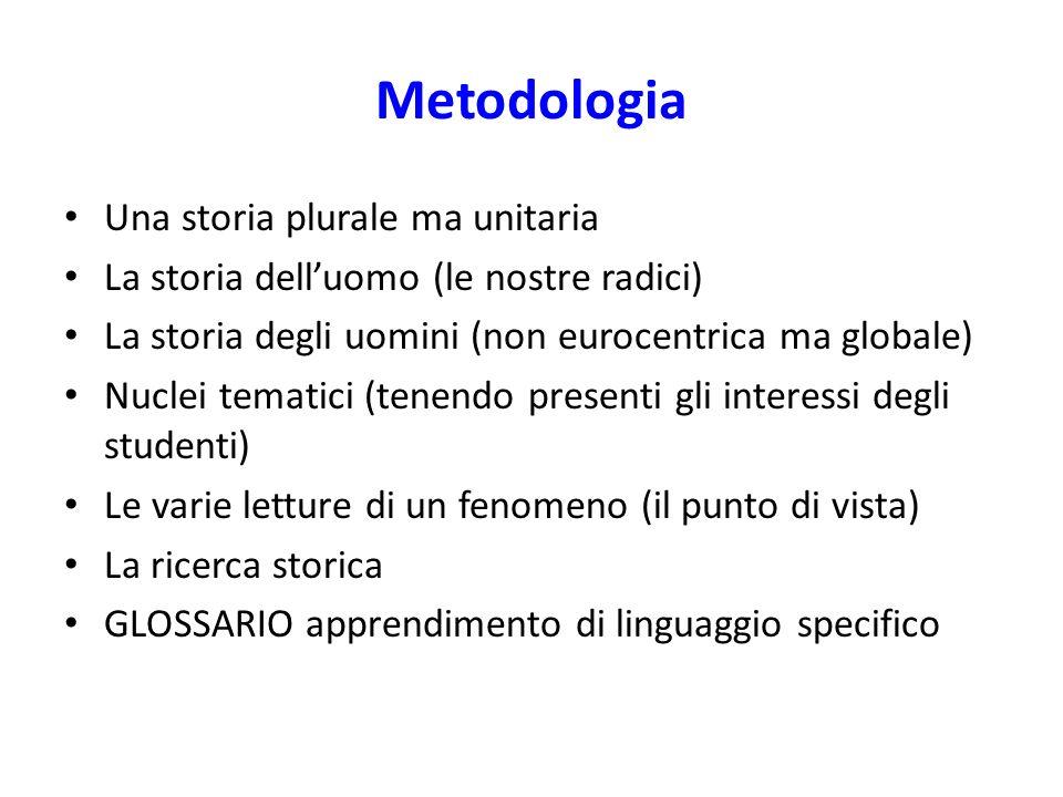 Metodologia Una storia plurale ma unitaria