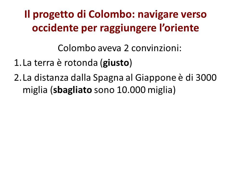 Colombo aveva 2 convinzioni: