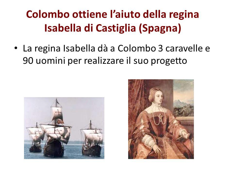 Colombo ottiene l'aiuto della regina Isabella di Castiglia (Spagna)