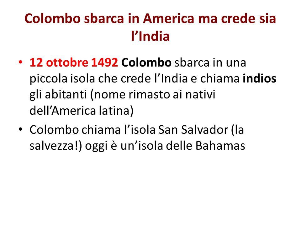 Colombo sbarca in America ma crede sia l'India