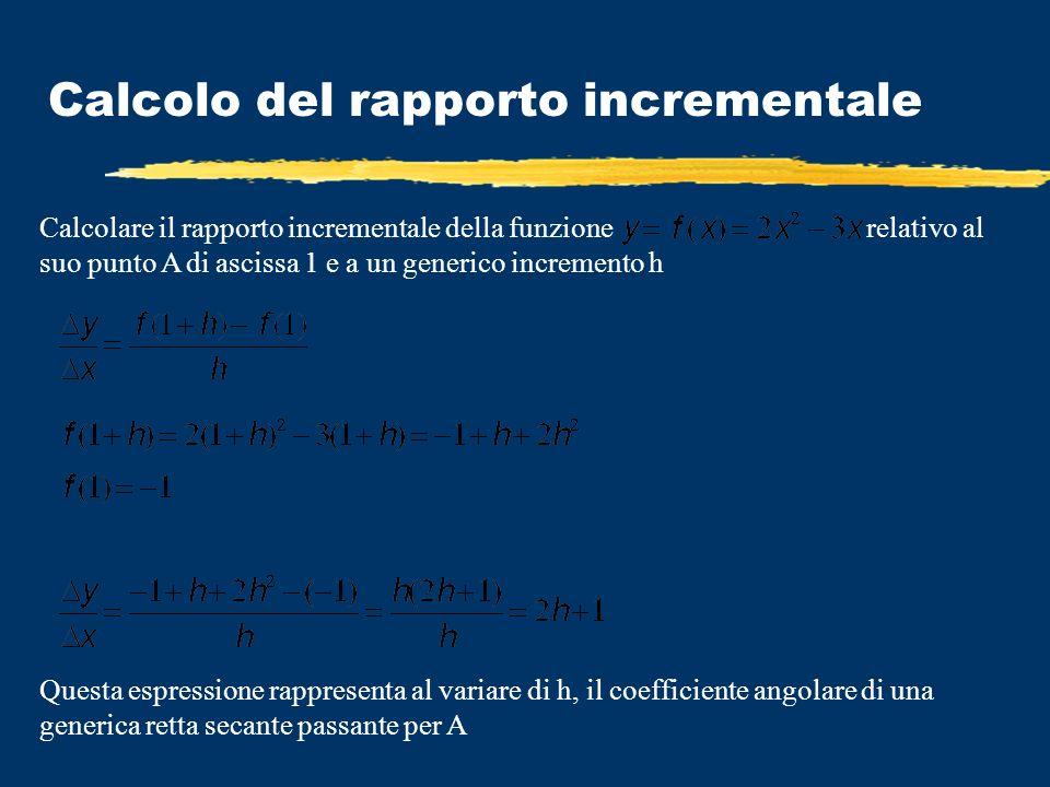 Calcolo del rapporto incrementale